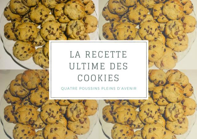 Recette de cookies par Quatre Poussins Pleins d'Avenir