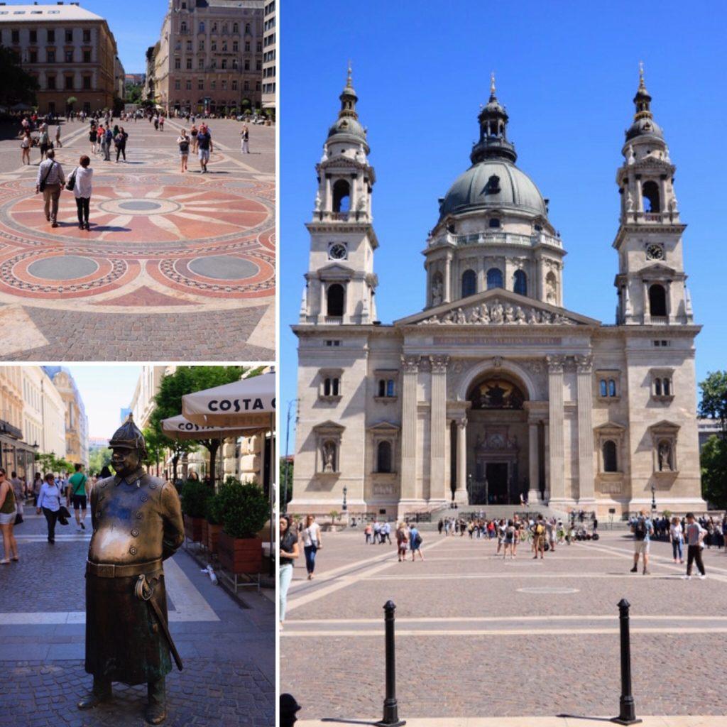 Basilique St Etienne de Pest et Fat Policeman de Budapest