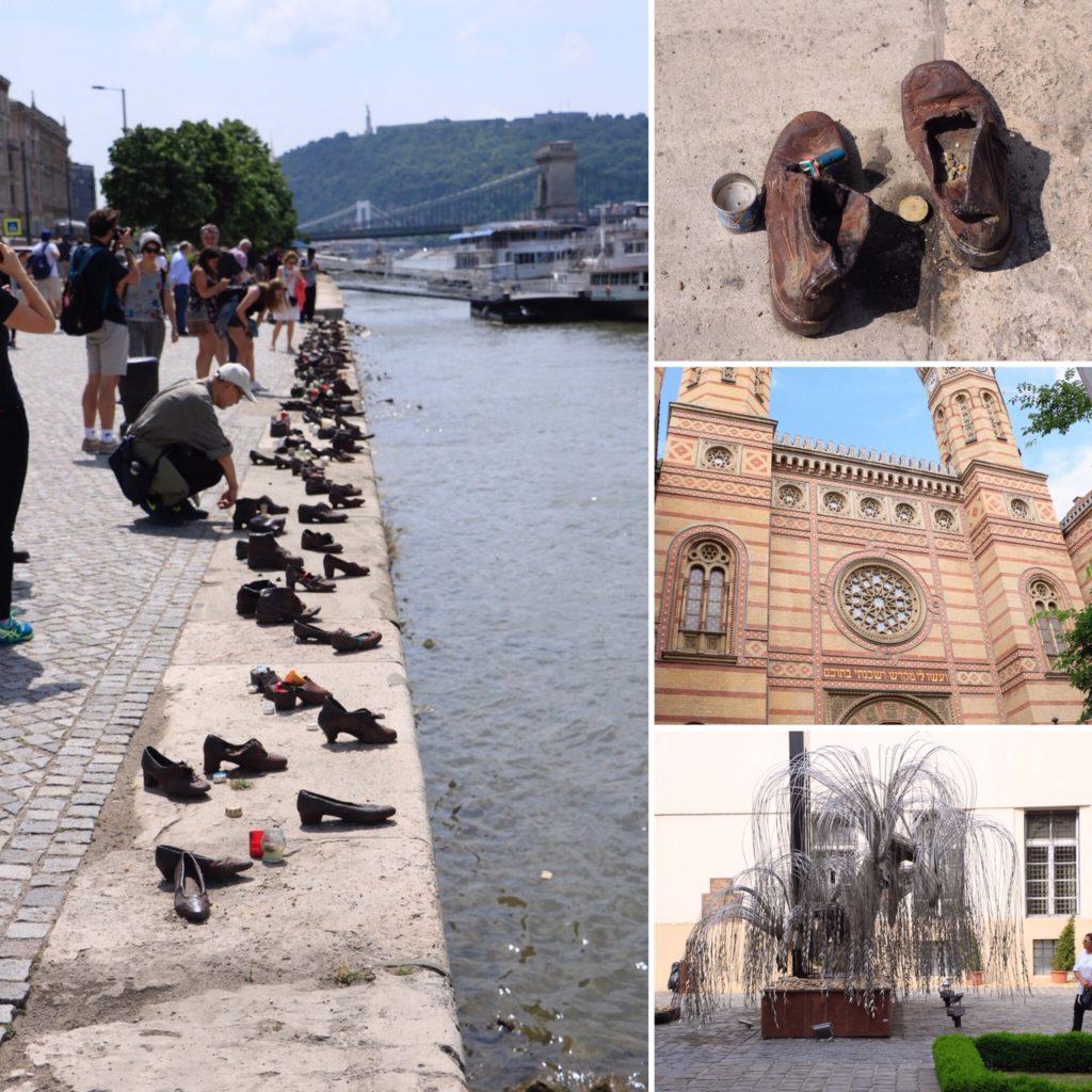 Chaussures au bord du Danube et Grande Synagogue de Budapest